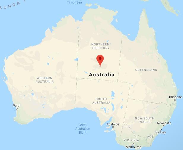 爱丽丝泉在地图上的位置